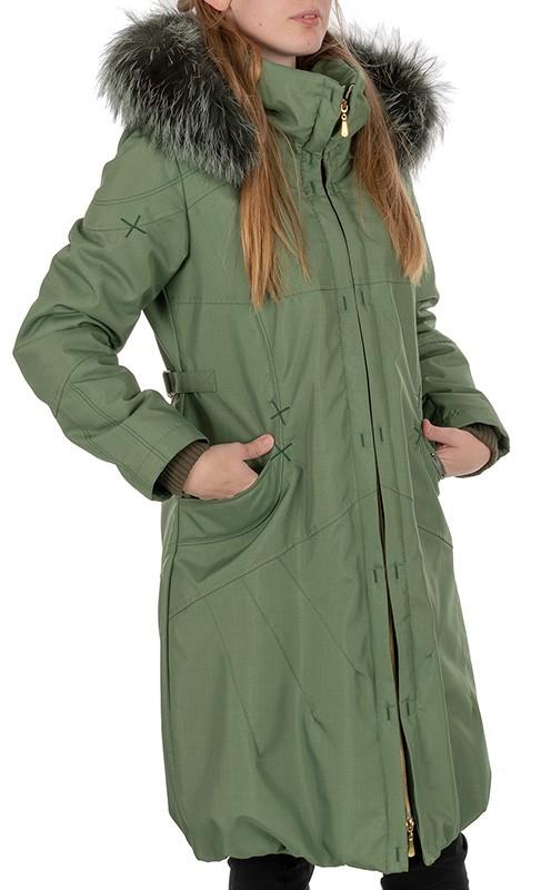 płaszcz damski Dziekański Roksana zielony