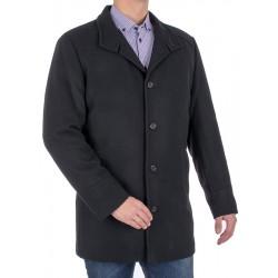 Czarny wełniany płaszcz Racmen 3040 Robert 48 50 52 54 56 58 60 62 64