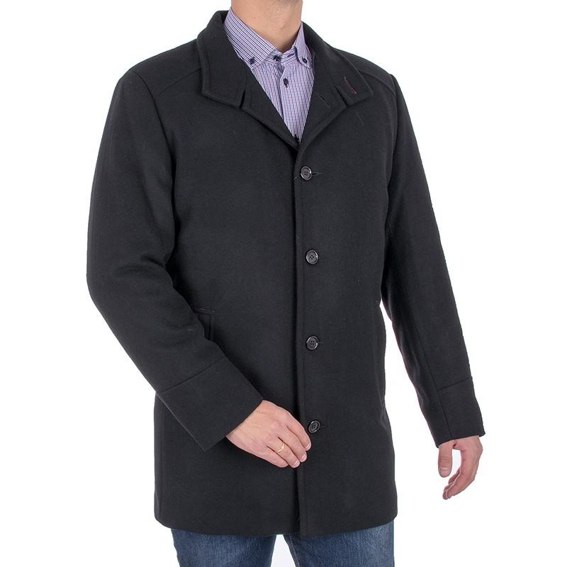 Czarny wełniany płaszcz Racmen 3040 Robert