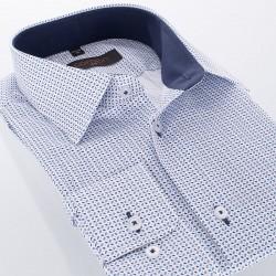 Koszula z ciekawym wzorem Comen dł. rękaw slim 39 40 41 42 43 44 45 46