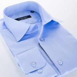 Błękitna bawełniana koszula Comen - długi rękaw, slim