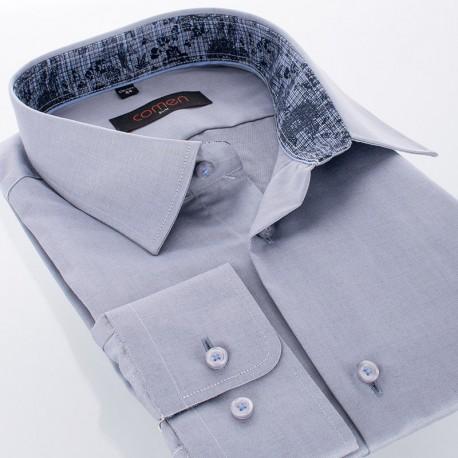 Szara koszula Comen slim długi rękaw