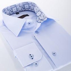 Błękitna bawełniana koszula Comen długi rękaw - slim