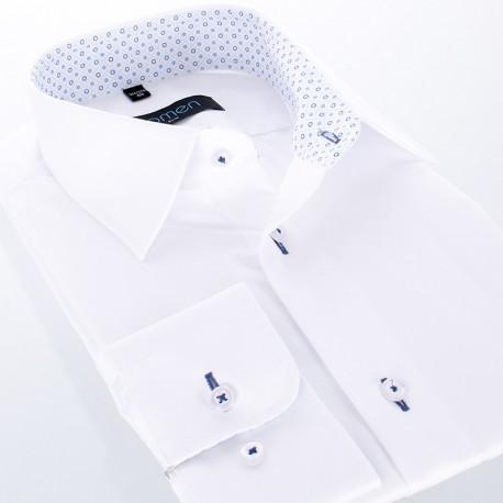 Biała koszula Comen długi rękaw - slim