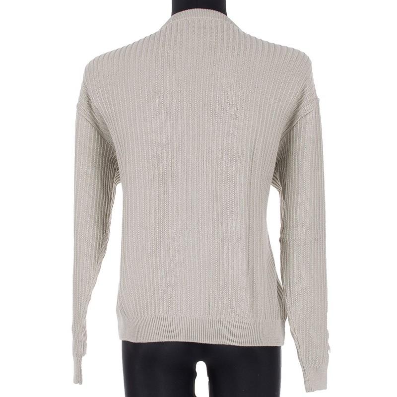 Kremowy sweter u-neck Kings 18S 62407 kol. 905