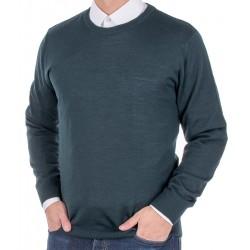 Zielony sweter wełniany Massimo pod szyję roz. S M L XL 2XL 3XL 4XL