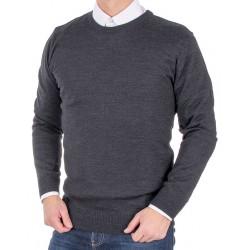 Wełniany sweter Massimo pod szyję grafitowy roz. S M L XL 2XL 3XL 4XL