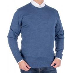 Jeansowy sweter wełniany Massimo u-neck roz. S M L XL 2XL 3XL 4XL