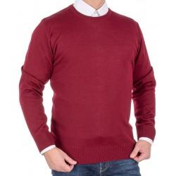 Bordowy sweter wełniany Massimo pod szyję roz. S M L XL 2XL 3XL 4XL