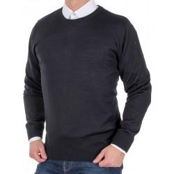Czarny sweter wełniany Massimo pod szyję