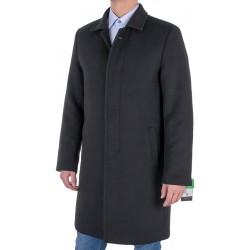 Czarny wełniany płaszcz męski Racmen 803 roz. 48 50 52 54 56 58 60 62