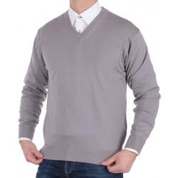 Sweter w szpic Kings 100*S-402 4006 cynkowy zinn 015 r. M L XL 2XL 3XL