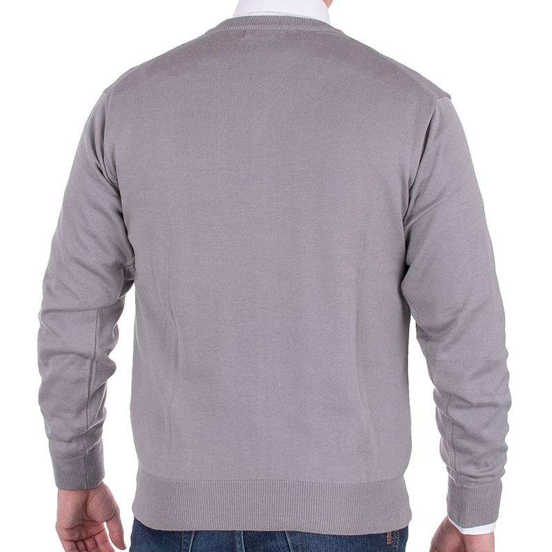 Sweter w szpic Kings 100*S-402 4006 cynkowy zinn 015