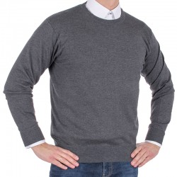 Sweter Kings 100*S-401 4007 anthrazit-melange 305 u-neck r. M L XL 2XL