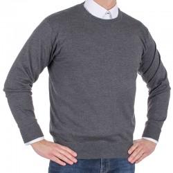 Sweter Kings 100*S-401 4007 anthrazit-melange 305 u-neck r. M L XL 2XL