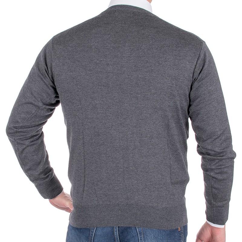 Sweter pod szyję Kings 100*S-401 4007 anthrazit-melange 305 - szary