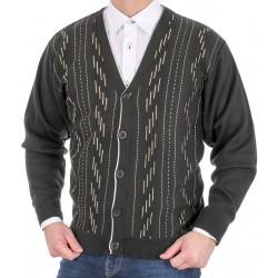 Zielony sweter rozpinany na guzik Kings 105*109002 roz. M L XL 2XL 3XL