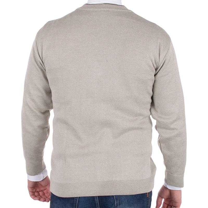 Beżowy sweter Kings 68702 kol. 34 - rozpinany na guziki