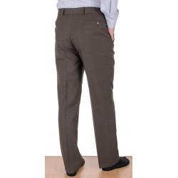 Niezwężane spodnie Lord Sp.020 wełniane w kant - jasny brąz