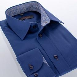 Granatowa koszula Comen Deep Blue dł. rękaw 39 40 41 42 43 44 45 46