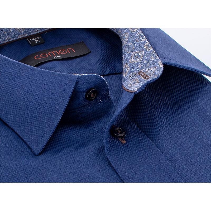 Granatowa koszula Comen z długim rękawem slim