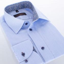Błękitna bawełniana koszula Comen długi rękaw 39 40 41 42 43 44 45 46