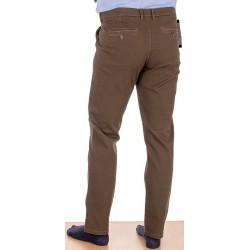 Spodnie chinos Lord R-120 brązowe bawełniane rozmiar 82-112 cm