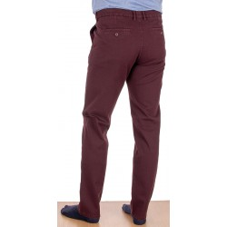 Bordowe spodnie chinos Lord R-121 bawełniane rozmiar 82-112 cm