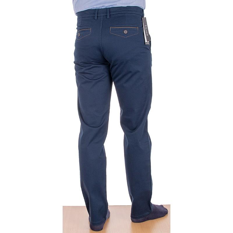 Granatowe spodnie Lord R-112 bawełniane chinosy