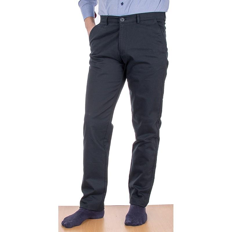 Czarne spodnie bawełniane Lord R-147 - chinosy