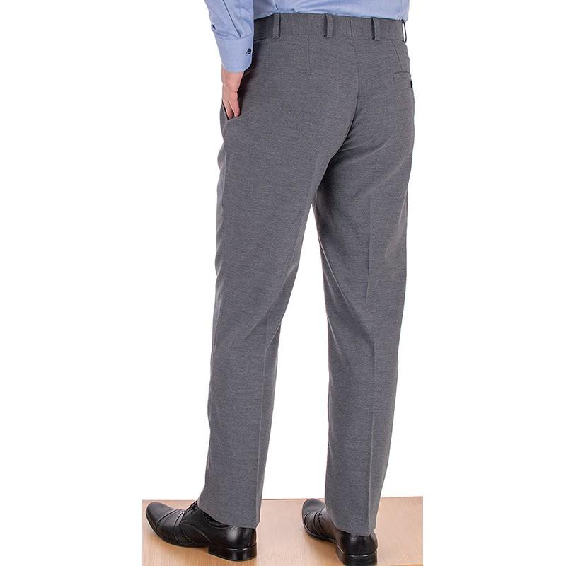 Jasnoszare spodnie Racmen 2562R wełniane w kant
