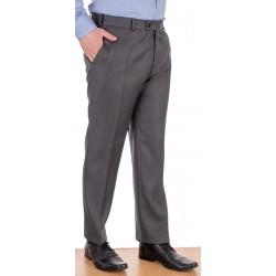 Szare spodnie garniturowe Racmen 2562R wełniane w kant roz. 84 -120 cm