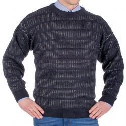 Sweter Kings 100*103507 u-neck ze wzorem koloru granatowego M L XL 2XL