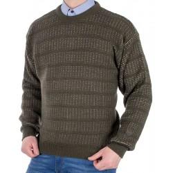 Sweter Kings 100*103507 u-neck kolor oliwkowy ciemny r. M L XL 2XL 3XL