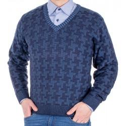 Sweter Kings 18S*67706 dżinsowy 32 w szpic