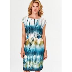 sukienka damska Feria FF231-2-15 niebieska rozmiar 40 42 44 46