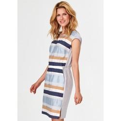 sukienka w paski Feria FF203-2-15 jasno popielata rozmiar 40 42 44 46