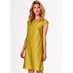 sukienka letnia Feria FF213-3-19 ciepła limonka rozmiar 38 40 42 44 46