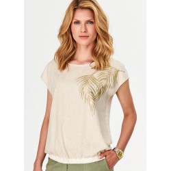 bluzka letnia Feria FF14-2-23 beżowa rozmiar 38 40 42 44 46 48