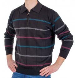 Sweter polo z zamkiem Kings 1C*598116 Elkjaer czarny 110 r. M L XL 2XL