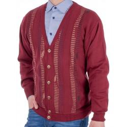 Bordowy sweter rozpinany na guzik Kings 102*657802 roz. M L XL 2XL 3XL