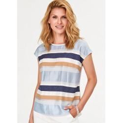 bluzka damska Feria FF05-2-15 niebieska w paski rozmiar 38 40 42 44