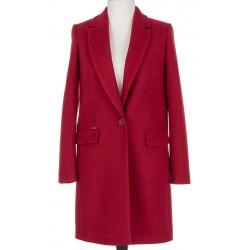 płaszcz damski na wiosnę i jesień Huna Aneta bordo rozmiar 36 38 40 42