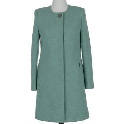 płaszcz damski Dziekański Katarzyna zielony rozmiar 40 46 48