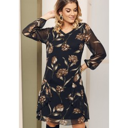 sukienka Sephora czarna w kwiaty rozmiar 40 48