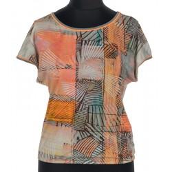 bluzka damska Sunwear B34-2-22 pomarańczowa rozmiar 38 42
