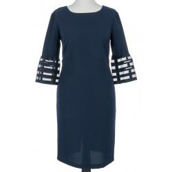 sukienka 3/4 Sunwear OS229-4-30 gładka rękaw tiul granatowa rozmiar 40