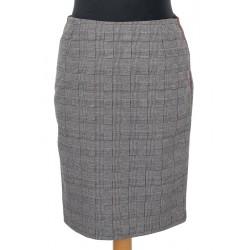 spódnica 60-65cm Sunwear VC406-3-06 krata bordo pepitko biały czarny