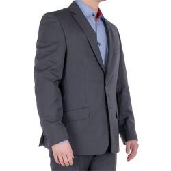 Szary garnitur wełniany Lord T-346