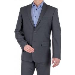 Szary garnitur w prążki Lord T-228 roz. 48 50 52 54 56 58 60 62